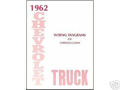 1962  62   CHEVROLET TRUCK WIRING   MANUAL