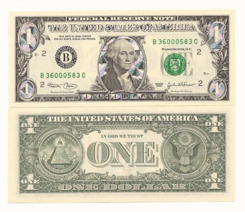 DOLLAR  BILL COLORIZED NOTE LEGAL USA SILVER HOLOGRAM gift money ONE 99/%SILVER