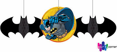 Batman Party Supplies HONEYCOMB BALLS Decorations Pack Of 3