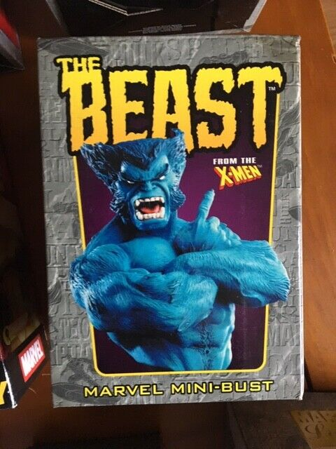 Marvel Bowen X-Men The Beast bust with box