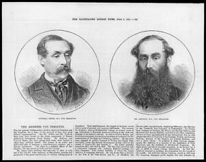 1874-Antique-Print-PORTRAIT-POLITICIANS-Brighton-General-Shute-Mr-Ashbury-239