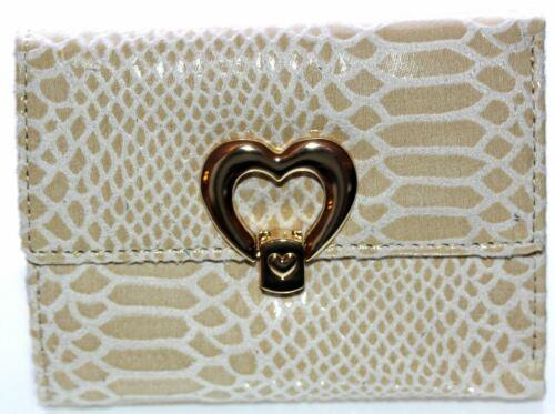 Claudia Canova Femme Designer crème effet peau de serpent sac à main Portefeuille 87761