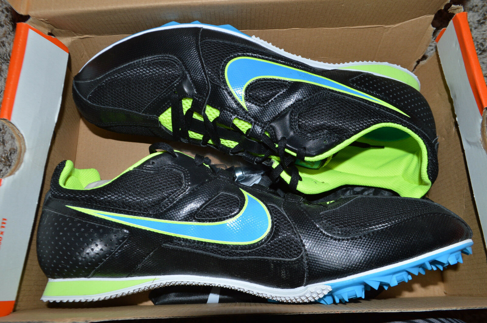 New Nike Mens Zoom Rival MD 6 Track Spike Shoes 468648-041 sz 12.5
