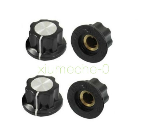2PCS 16mm Top Rotary Control Turning Knob for 6mm Hole Dia Shaft Potentiometer
