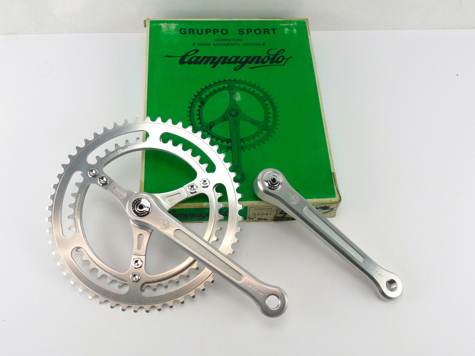 Campagnolo Crankset Gran Sport 170mm 3Arm 53-42 Chainrings 1977 Bike NOS