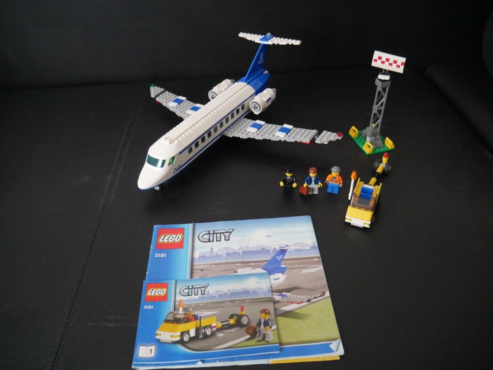 LEGO città 3181 - THE PASSENGER PLANE - 100% completare  WITH uomoUELS  classico senza tempo