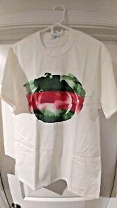 d5953c7a209e New Men's T-Shirt White Gucci Logo Watercolor GG MEDIUM | eBay