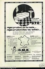 Publicité advertising 1974 GME sanitaire