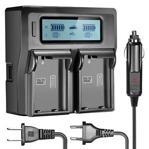 Neewer-LCD-Dual-AC-Wall-Car-Battery-Charger-for-2pcs-Nikon-EN-EL15-Batteries