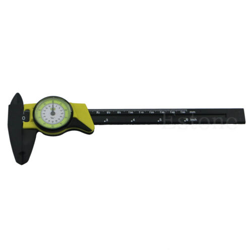 Dial Caliper 6 Inch 150mm Plastic Vernier Micrometer Carbon Fiber Construction