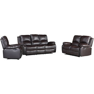Image Is Loading Leather Recliner Sofa Set Sectional 3 2 1