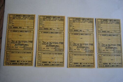 Lot of 8 Unused St train tickets! Johnsbury /& Lamoille County R.R Rare VT