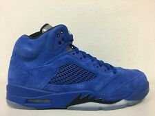item 1 Nike Air Jordan 5 Retro Game Royal Black Blue Suede 136027-401 Mens  Size 10 -Nike Air Jordan 5 Retro Game Royal Black Blue Suede 136027-401  Mens Size ... 13db17c41