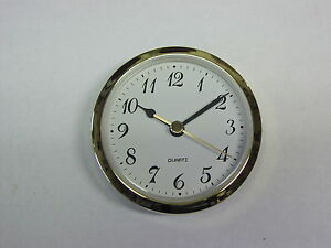 """CLOCK FIT UP White Dial,easy to read Arabic numbers,Insert 3 1/2"""" dia, NEW,#330"""