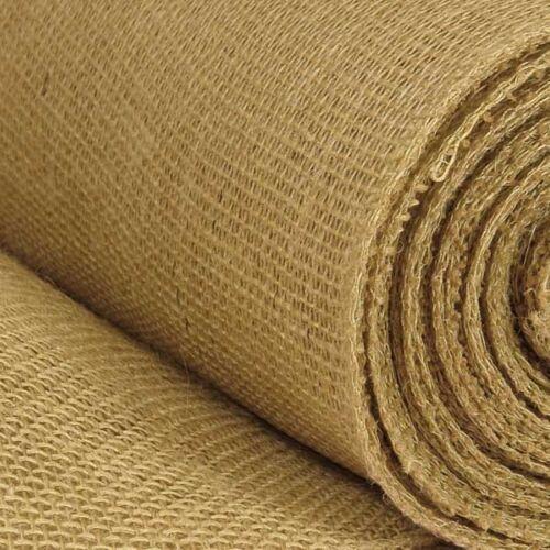 "Hessian Fabric 12oz Jute Burlap Upholstery 135cm Wide Upholstery Craft 54/"""