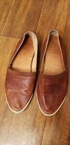 Frye-Melanie-Slip-On-Loafers-Leather-Women-Size-7M