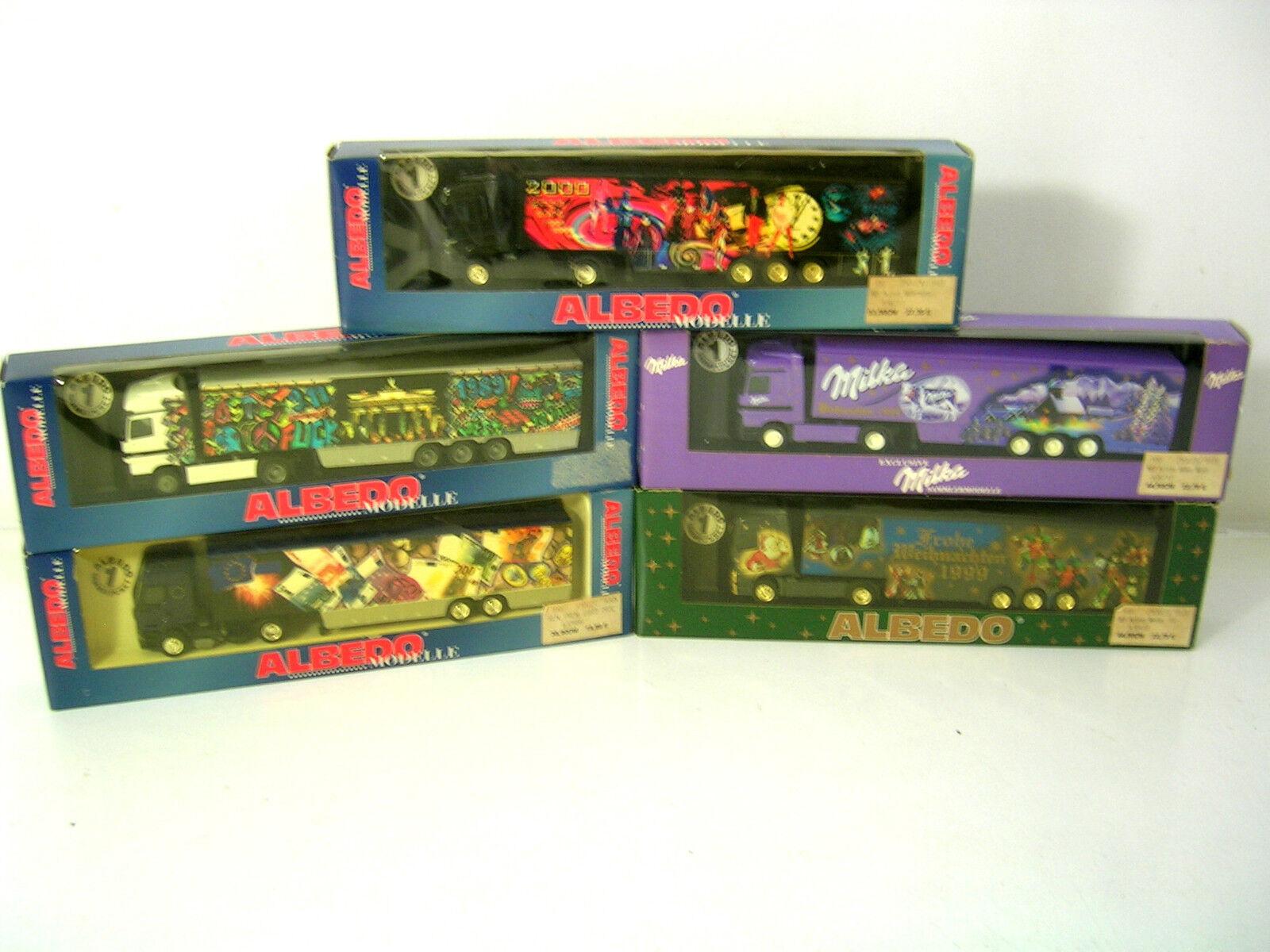 5 Convolute Albedo/Herpa, Milka, Christmas 1998,99, Euro, 2000,Neu, unsp., OVP