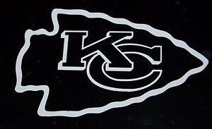 Kansas City Chiefs Football Logo Vinyl Decal Sticker 77120z Ebay