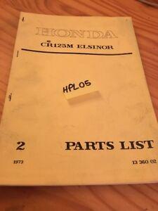 Honda-Teile-Liste-CR125M-CR125-m-CR-125-Elsinore-Katalog-Liste-Ersatzteil