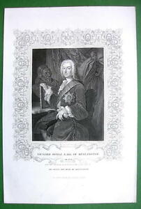 RICHARD-BOYLE-English-Architect-Antique-Print-Ornamental-Border