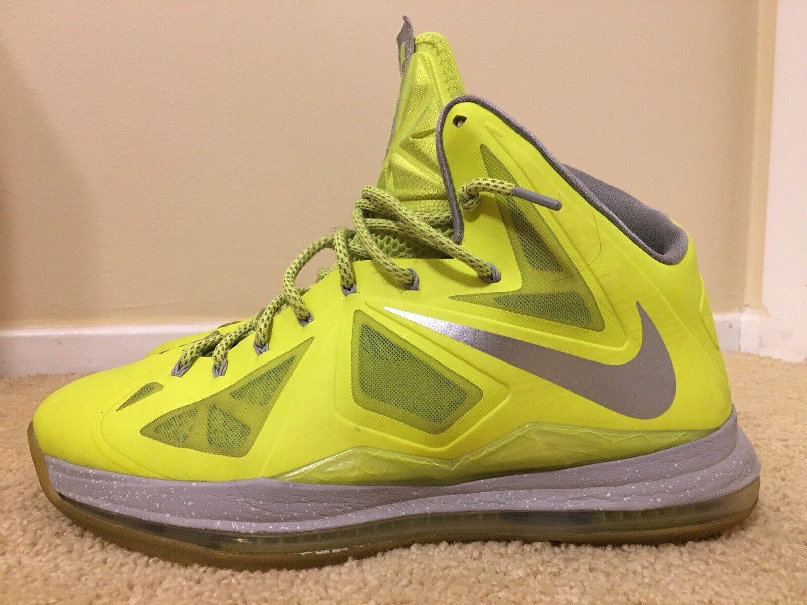 Nike Lebron X 10 Volt Basketball Dunkman, 54201818 700, Hombre Basketball Volt Zapatos , Talla 14 ca4755