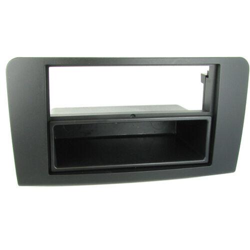 CT24MB08 MERCEDES GL X165 MODEL 2006 to 2012 BLACK SINGLE DIN FASCIA /& POCKET