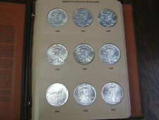 32 COIN COMPLETE SET SILVER AMERICAN EAGLE S IN DANSCO UNITED STATES DOLLARS UNC