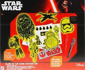 Star-Wars-Glow-In-The-Dark-Sticker-Set-10-Sheets-Of-Stickers-Stencil-Gel-Pen