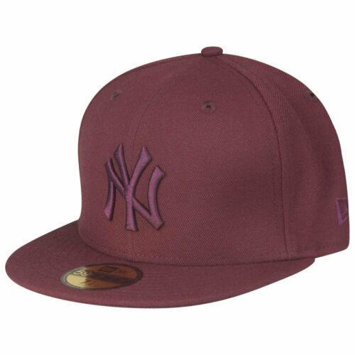 MLB New York Yankees maroon New Era 59Fifty Fitted Cap