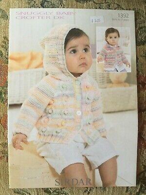 Sirdar 4619 Knitting Pattern Cardigans in Sirdar Snuggly Baby Crofter 4 Ply