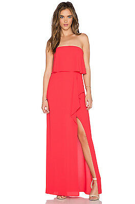 NWT BCBG MAXAZRIA Felicity Strapless Slit Gown Dress Lipstick Red Size 6