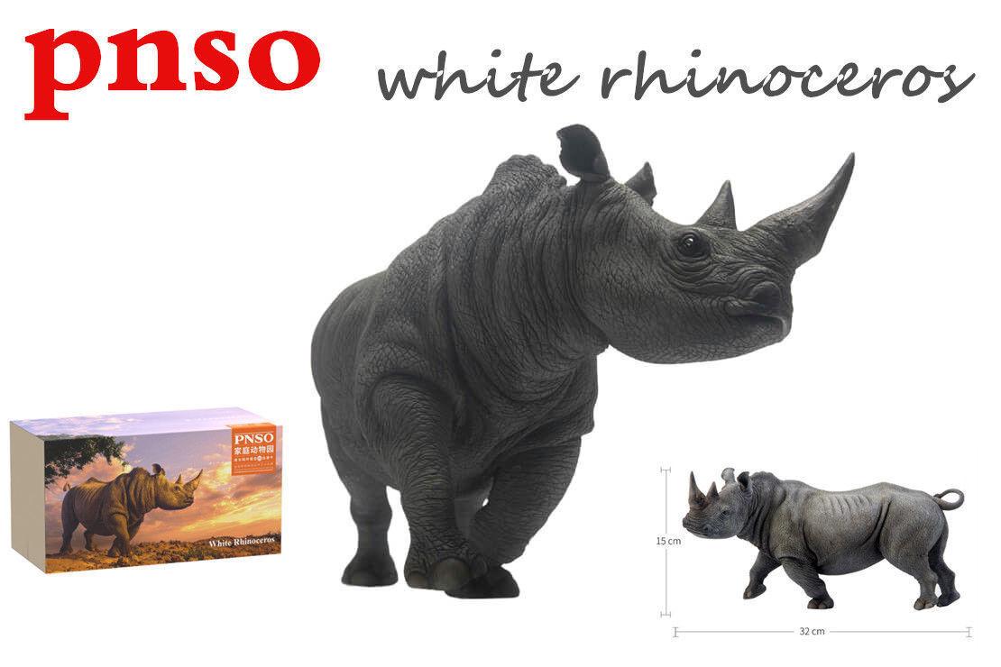 Realistic PNSO bianca Rhino Rhinoceros Wildlife Scientific Model Action Figure us