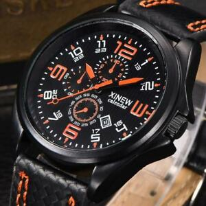 Fashion-Men-039-s-Canvas-Band-Watches-Military-Sport-Analog-Quartz-Date-Wrist-Watch