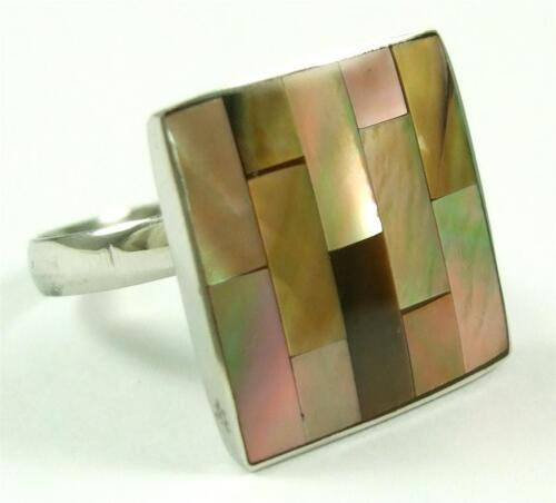 Natural MOTHER of PEARL shell ring Taille US 6 to10 Réglable Femmes Bijoux DA200