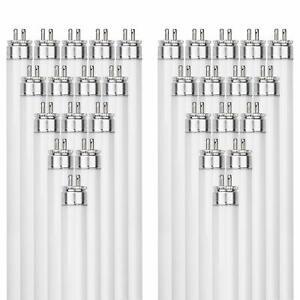 Sunlite F6T5//BL 6-Watt T5 Linear Fluorescent Light Bulb Mini Bi Pin Base 10-Pack Black Light