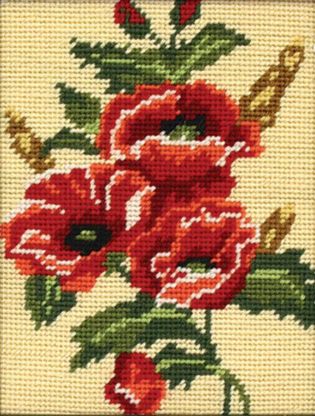 Poppy :  Anchor  Tapestry  Kit : Starter : MR931
