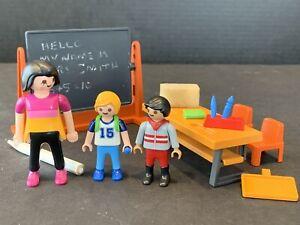 Playmobil Classroom Scene School Teacher 2 Students Chalk ...