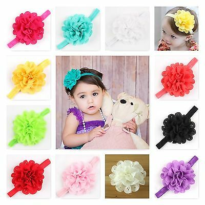 Baby Girls Headband Soft Head Elastic Band Flower Hairband Hair Accessories Selected Material
