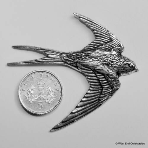 Bluebird Jay Swift Swallow Pewter Pin Brooch British Hand Crafted