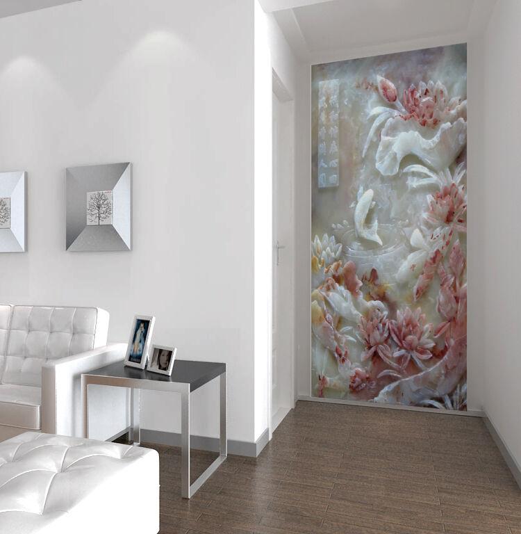 3D Gravure 33 Photo Papier Peint en Autocollant Murale Plafond Chambre Art