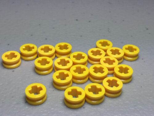 NEW 4265C LEGO LOT of 20 Yellow TECHNIC Bush 1//2 Smooth Round Parts