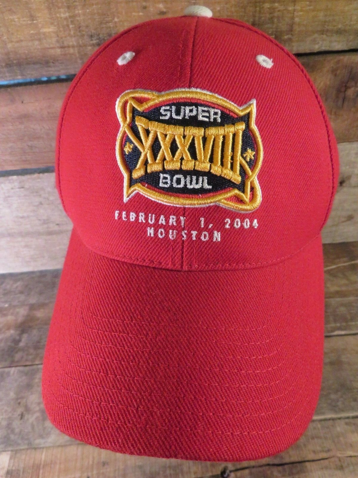 Super Bowl XXXVIII Reebok Houston 2004 Reebok XXXVIII Adjustable Adult Cap Hat f31ec1
