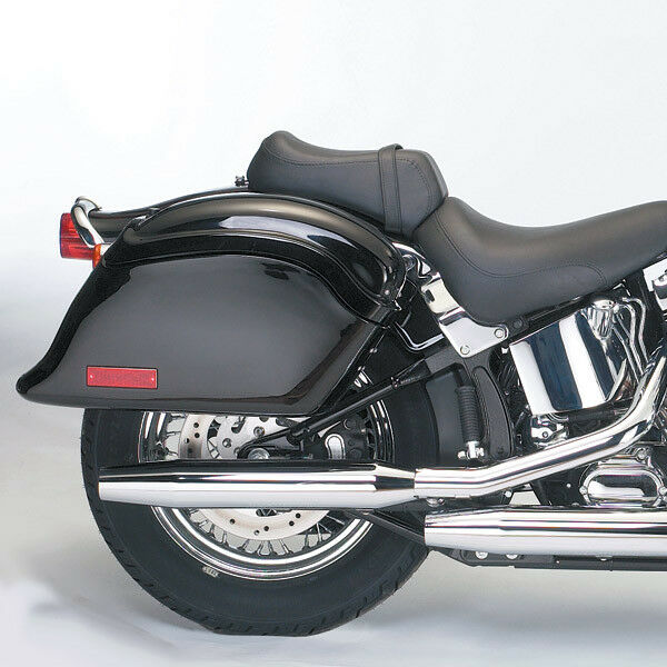 Honda Harley Davidson Kawasaki VN 88 Cruiseliner Hart Schwarz Satteltasche Set