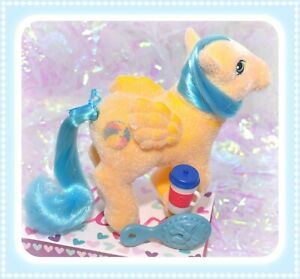 My-Little-Pony-MLP-G1-Vtg-1985-So-Soft-Bouncy-Flocked-Fuzzy-Pegasus-SS