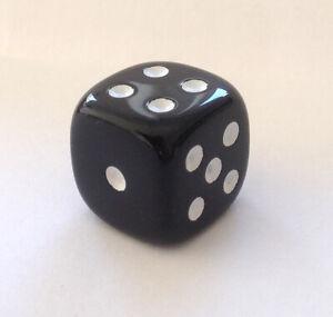 Wuerfel-Cube-Dice-fuer-Bastler-Schmuck-20-mm-Kette-Mode-2-cm-Game-Spiel-schwarz