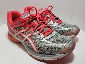 a6155b3d439 Asics Women s Gel Flux 4 Running Shoes Grey White Diva Pink T764N ...