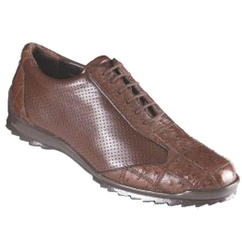 con il 60% di sconto Los Altos Genuine Marrone OSTRICH QUILL Casual Casual Casual scarpe Lace Up Handmade scarpe da ginnastica EE  in linea