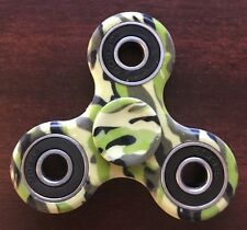 New Camouflage Green Army High Speed Tri Fidget Spinner Ceramic Hand Finger Toy