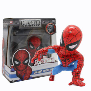 Marvel-Spiderman-Classic-Bobble-Head-PVC-Action-Figur-Sammlerstueck-Modell-Spielzeug