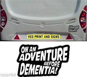 Bootsport-Teile & Zubehör Wohnwagen Wohnmobil Lustig Witz Aufkleber 0n an Adventure Before Dementia Bootsport-Artikel